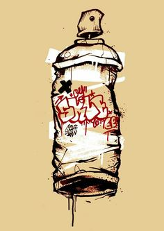 Spray Can by Beercan of spraypaint Graffiti Art, Graffiti Tattoo, Graffiti Tagging, Graffiti Wallpaper, Graffiti Drawing, Graffiti Alphabet, Graffiti Lettering, Art Drawings, Arte Hip Hop