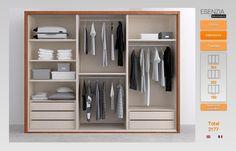 Este es el armario con tres puertas correderas ya con los for Configurador armarios ikea