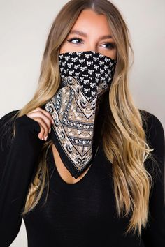 Ways To Wear A Scarf, How To Wear, Classy And Fab, Dottie Couture, Bandana Print, Christen, Fashion Face Mask, Asian Fashion, Fashion Brands