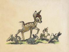 Bambi art. So stinkin' cute.