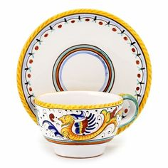 RAFFAELLESCO: Tea Coffee Cup and Saucer