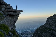 The view of Lion's Head at sunrise from Table Mountain's Kasteelspoort Route Table Mountain Cape Town, Before Sunrise, Mountain Hiking, See Picture, Natural Wonders, Hiking Trails, Bouldering, Places To Go, Travel