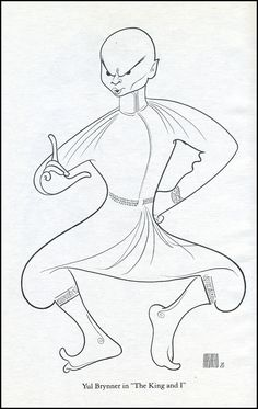 "Al Hirschfeld - Yul Brynner ""The King and I"""