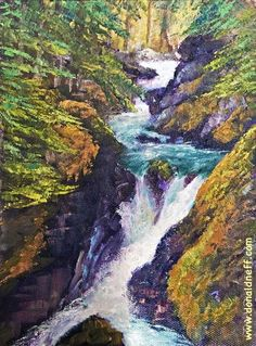 "$180 'Avalanche Creek"", 8x6, oil on panel"