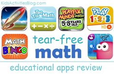 Math apps for kids - along with a couple other apps that your kids can learn from.