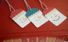 Snowman Gift Tags Holiday Tags Set of 10 by CardsbyJeweleighaB, $5.00