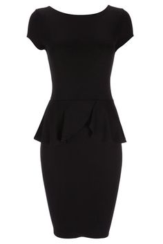 The little black dress has had an update with this black peplum dress. This gorgeous dress oozes lady like chic and will flatter all figures. Team this on trend dress with killer heals and statement jewellery.