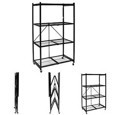 Origami Storage Solutions R1407W Four Shelf Steel Collapsible Garage Storage Rack w/ Wheels *** More info could be found at the image url.
