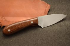 This knife is made using AEB-L stainless steel.  The handle is stabilized African Sapele. #jhoffmanknives, #customknife, #somethingspecialfromwisconsin