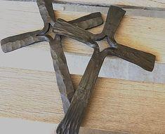 Hand forged split cross | ironshepherdforge