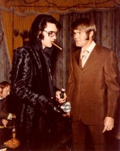 Elvis and Glen Campbell get ready for some 1970s doings.
