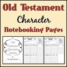 Notebooking Nook: Free Old Testament Character Study Notebooking Pages