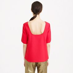 j.crew Collection crepe scoop-back top