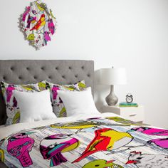 DENY Designs Mary Beth Freet Couture Home Birds Duvet Cover Collection | Wayfair