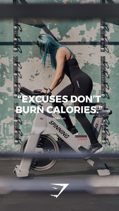 Excuses don't burn calories. - Unknown #quote #gymshark #motivational