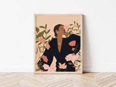 Modern Art Prints, Fine Art Prints, Woman Illustration, Diy Canvas Art, Abstract Wall Art, African Art, Female Art, Printable Wall Art, Art Girl