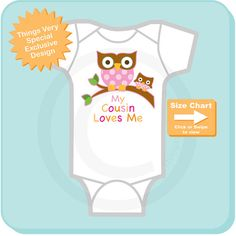 Girl's My Cousin Loves Me Little Cousin Owl by ThingsVerySpecial