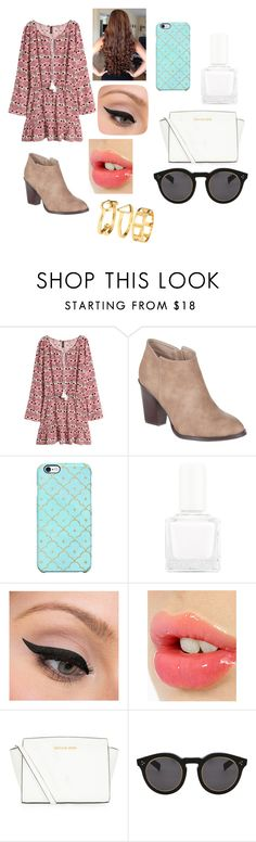 """""""back to school #5"""" by amarianamichelle ❤ liked on Polyvore featuring H&M, Billini, Uncommon, tenoverten, LORAC, Charlotte Tilbury, MICHAEL Michael Kors and Illesteva"""