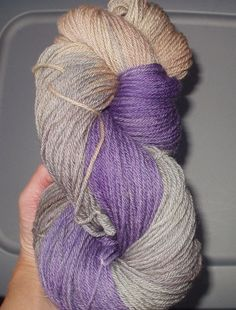 Antique Amethyst Wool Yarn Worsted Weight  by SunnyhillFiberDreams