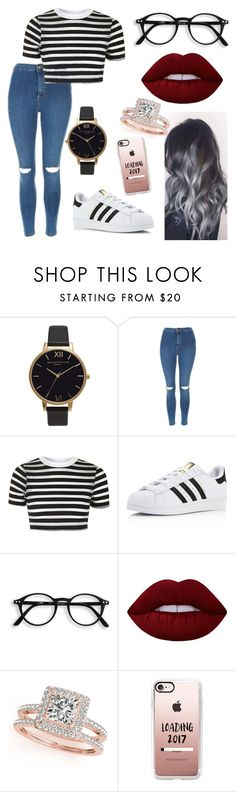 """Untitled #303"" by evebadauskaite ❤ liked on Polyvore featuring Olivia Burton, Topshop, adidas, Lime Crime, Allurez and Casetify"