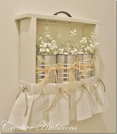 Someday Crafts: Dressed-up Drawer Shelf and Farm Bench