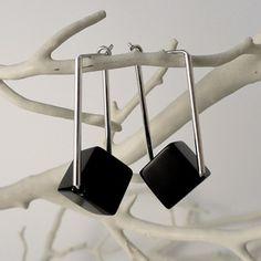 Yen Chee Designs Onyx Cube Earrings