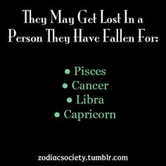Pisces can get lost....