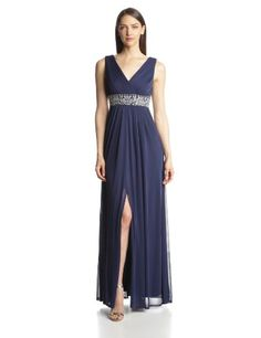 JS Boutique Women's V-Neck Draped Jersey Dress with Beaded Waist, Navy, 10 JS Boutique http://www.amazon.com/dp/B00HC07KAE/ref=cm_sw_r_pi_dp_C2MLtb0ZG9J2Z07T