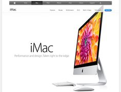 apple sales page, awsome transparency in upper right menu