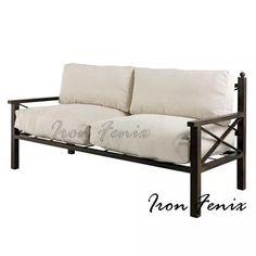 Muebles de jard n en aluminio sof s de exterior muebles for Sofa exterior hierro