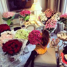 Room Full Of Flowers Vases Freshly Cut