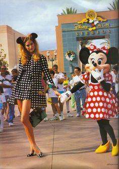 Minnie Mouse by Arthur Elgort. Vogue UK march 1991.