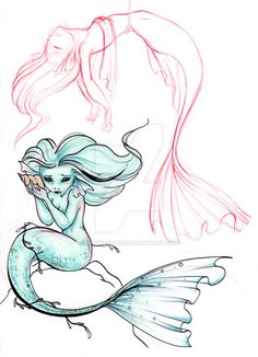 sea girls by MarineElphie on DeviantArt Drawing Reference Poses, Drawing Poses, Art Reference, Mermaid Pose, Mermaid Art, Art Sketches, Art Drawings, Mermaid Illustration, Mermaid Drawings