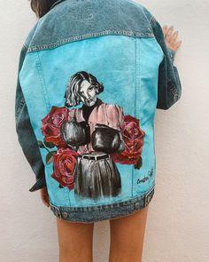 Jaqueta de segona mà pintada per Comboi de Tarongina Rescatem la roba? 🌸 Ropa pintada a mano Mini Skirts, Fashion, Jacket, Painted Clothes, Moda, Fashion Styles, Mini Skirt, Fashion Illustrations