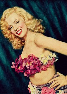 Marilyn Monroe in a rare magazine clipping c. 1949