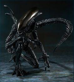 Alien vs. Predator Alien Warrior SH MonsterArts Die-Cast Metal Action Figure