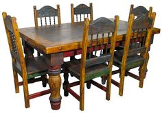 painted mexican furniture | miscellaneous - mexican furniture, painted wood furniture, dining ...