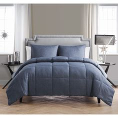 Relax in your home with this soft and casual comforter set. The beautiful design comes in two colors that are sure to work well with your home décor. This classic design is stylish and comfortable at the same time.