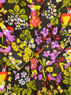 【L】70's VINTAGE THE ART SHIRT(ザ・アートシャツ) レトロ柄 プルオーバー ミニ丈 ワンピース http://littletree-usa.com/products/detail.php?product_id=1956