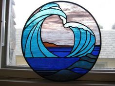 Stained Glass-Ocean Wave #StainedGlassOcean