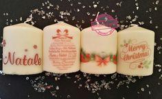 Alcune delle nostre candele #personalizzate, ideale come regalo per Natale ! Diversi modelli / scritte/ dimensioni / colori  Spedizioni in tutta Italia #WeddingEventi #matrimonio #wedding #candle #candele #homemade #candelepersonalizzate #eventi #nozze #compleanno #anniversario #battesimo #Natale #candles #merrychristmas #christmas #regalo