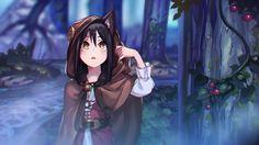 anime Girls Vocaloid Yuezheng Ling Braids Brunette Brown Eyes