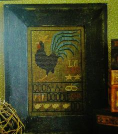 cross stitch pattern La D Da Rooster Cock a Doodle Doo hard to find