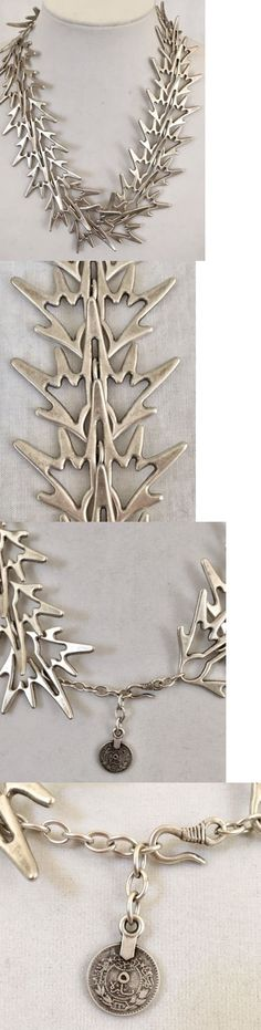 Middle Eastern 166732: Modern Turkish Pewter Necklace Statement Abstract Runway -> BUY IT NOW ONLY: $79.95 on eBay!