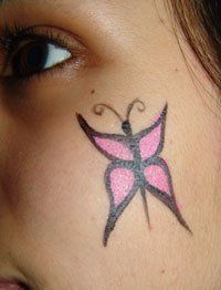 How to Face Paint: A Small Butterfly #HowtoFacePaint