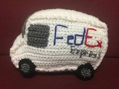 MADE TO ORDER  Size: about 10 in long x about 6 inch wide  Is your child fascinated with FedEx trucks? Or do you have an outstanding FedEx delivery man and want to give him a gift? This is just the right thing!  This is my own pattern and is crocheted by me! This FedEx truck has 2 windows for the driver and 4 tires. I hand embroidered FedEx Express on both sides!  OTHER PLUSH VEHICLES I OFFER:  USPS Truck: https://www.etsy.com/listing/248214810/made-to-order-usps-truc...