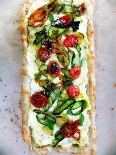 PROUD ITALIAN COOK: Summer Bounty Zucchini Tart