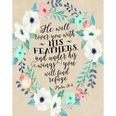 Psalm 91 - 4 Wreath Canvas Art - Tara Moss (22 x 28)