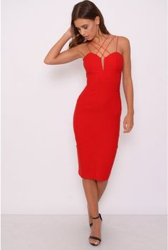 e651450486 You can t go wrong this season with a classic red dress