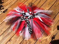 Girls Game Day Tutu. Red Black White with by EverythingSorella, $28.50